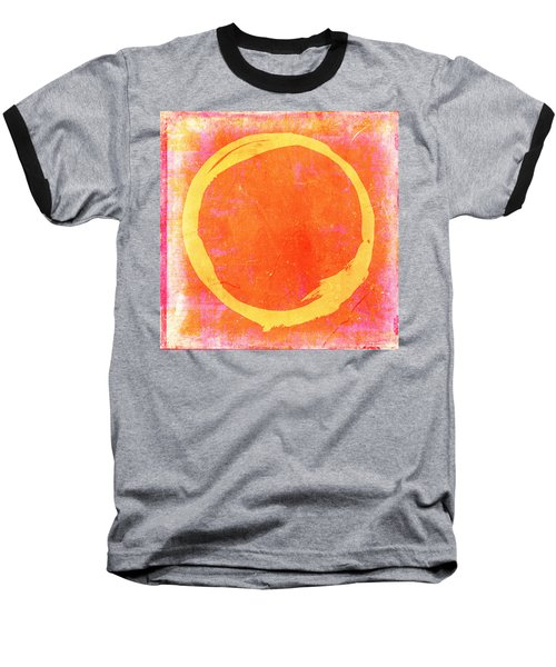 Enso No. 109 Yellow On Pink And Orange Baseball T-Shirt