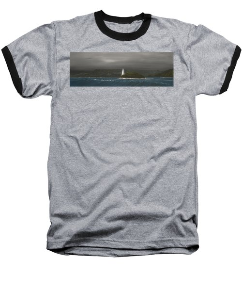 Baseball T-Shirt featuring the painting Entrance To Macquarie Harbour - Tasmania by Tim Mullaney