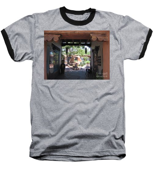 Baseball T-Shirt featuring the photograph Entrance To Market Place by Dora Sofia Caputo Photographic Art and Design