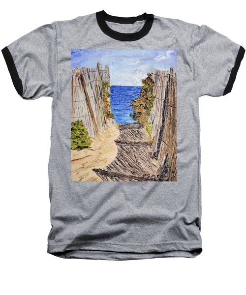 Baseball T-Shirt featuring the painting Entrance To Summer by Michael Daniels