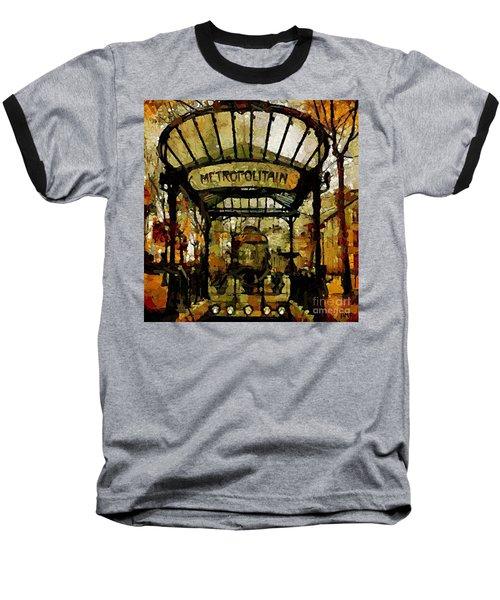 Entrance To The Paris Metro Baseball T-Shirt