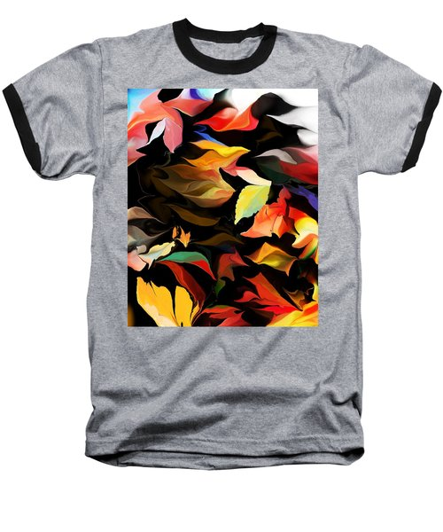 Baseball T-Shirt featuring the digital art Entropic Dance Of The Salamander First Snow.  by David Lane