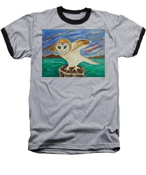 Equinox Owl Baseball T-Shirt by Victoria Lakes