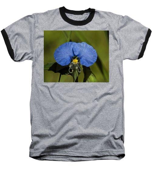 Erect Dayflower  Commelina Erecta Dsmf096 Baseball T-Shirt