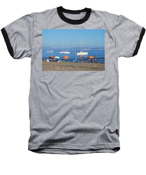 Erikousa Beach One Baseball T-Shirt