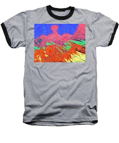 Erupting Lava Meets The Sea Baseball T-Shirt by Joseph Baril