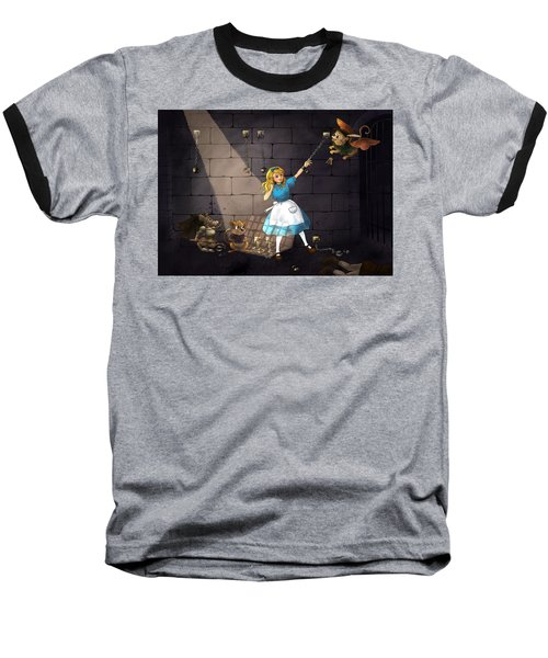 Baseball T-Shirt featuring the painting Escape by Reynold Jay