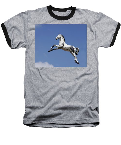 Escaped Carousel Horse Baseball T-Shirt