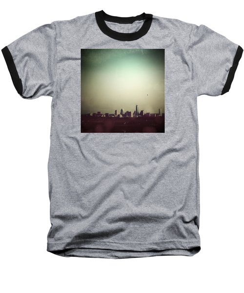 Escaping The City Baseball T-Shirt by Trish Mistric