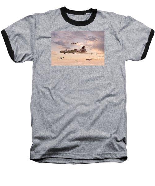 Escort Service Baseball T-Shirt by Pat Speirs