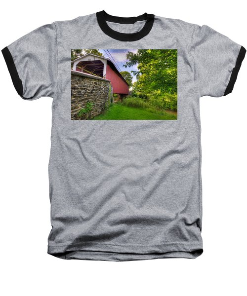 Baseball T-Shirt featuring the photograph Eshelman's Mill Covered Bridge by Jim Thompson