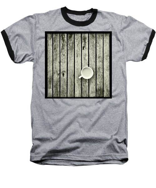 Espresso On A Wooden Table Baseball T-Shirt by Marco Oliveira