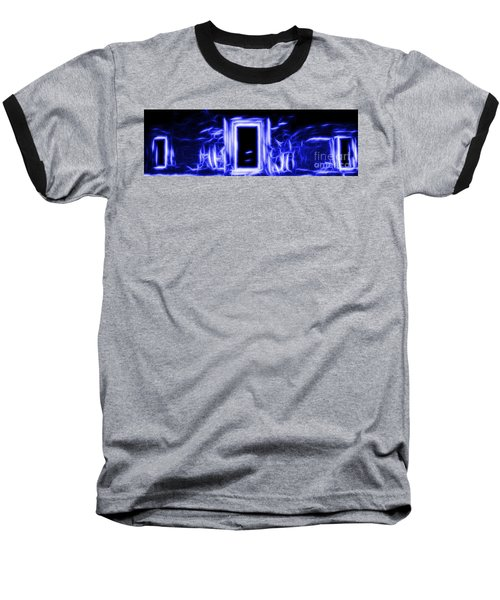 Ethereal Doorways Blue Baseball T-Shirt