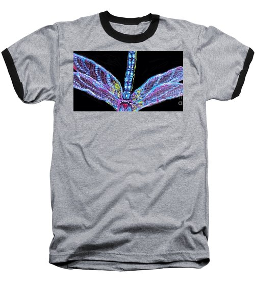 Ethereal Wings Of Blue Baseball T-Shirt