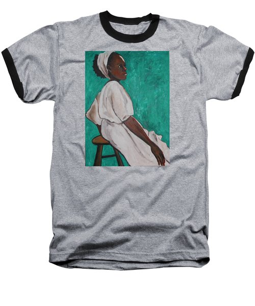 Ethiopian Woman In Green Baseball T-Shirt by Esther Newman-Cohen