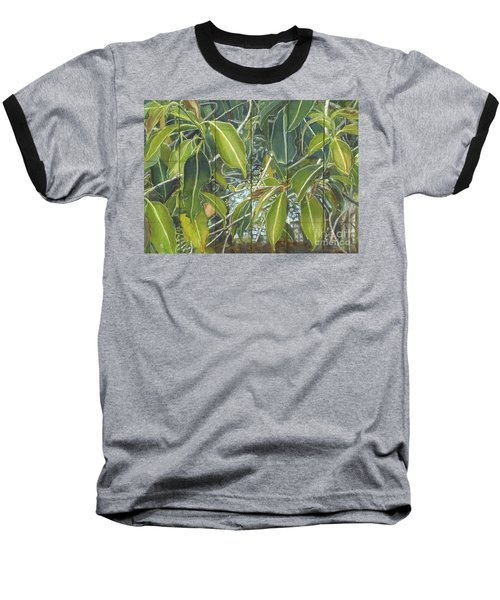 Euca - Leaves Section Baseball T-Shirt