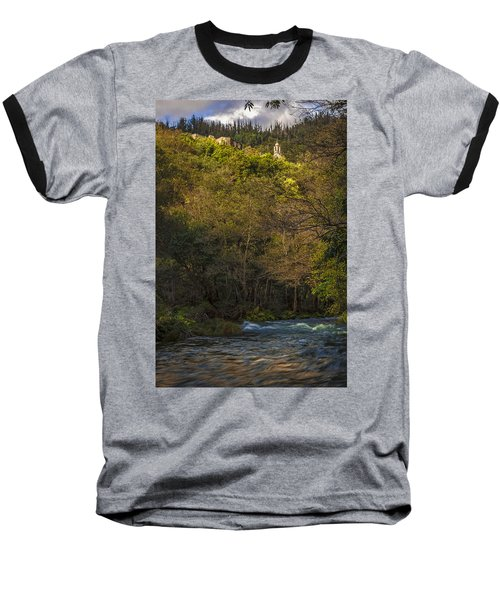 Baseball T-Shirt featuring the photograph Eume River Galicia Spain by Pablo Avanzini