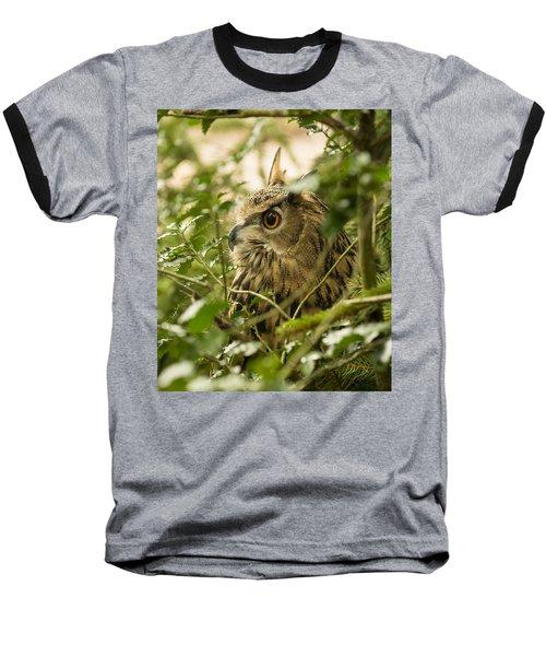 Eurasian Eagle-owl 2 Baseball T-Shirt