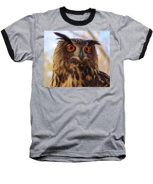 Baseball T-Shirt featuring the photograph Eurasian Eagle Owl by Cynthia Guinn