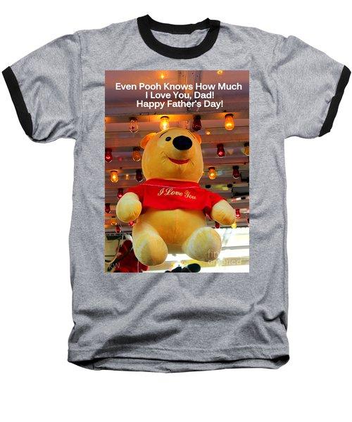 Even Pooh Knows Card Baseball T-Shirt
