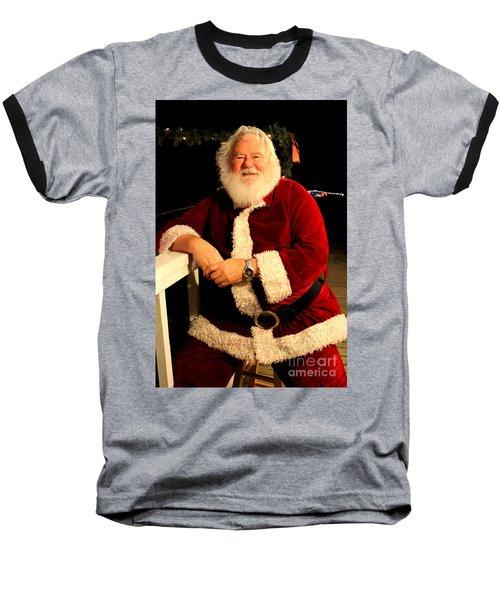 Even Santa Needs A Break Baseball T-Shirt