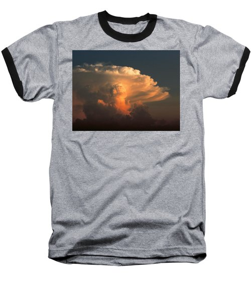 Baseball T-Shirt featuring the photograph Evening Buildup by Charlotte Schafer