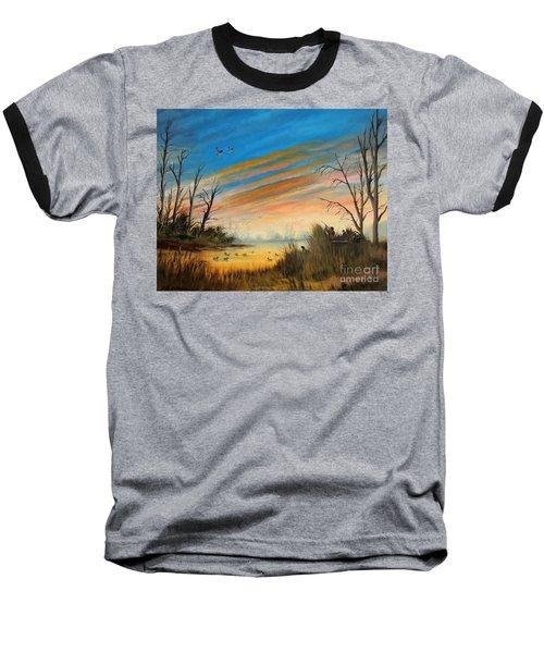 Evening Duck Hunt Baseball T-Shirt