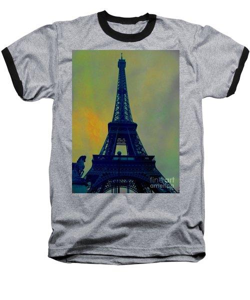 Evening Eiffel Tower Baseball T-Shirt