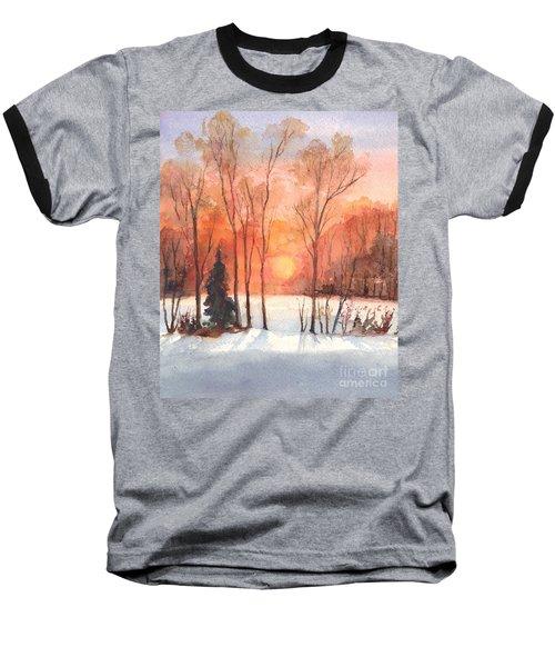 The Evening Glow Baseball T-Shirt by Carol Wisniewski