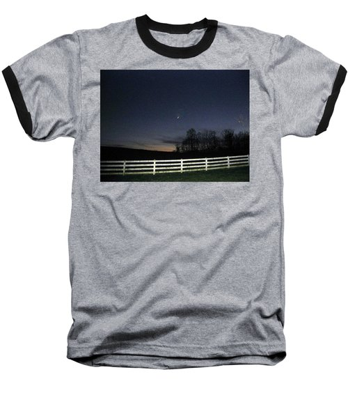 Baseball T-Shirt featuring the photograph Evening In Horse Country by Judith Morris