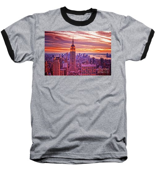 Evening In New York City Baseball T-Shirt