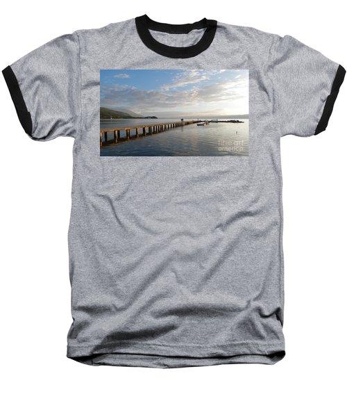 Baseball T-Shirt featuring the photograph Evening - Lake Ohrid - Macedonia by Phil Banks