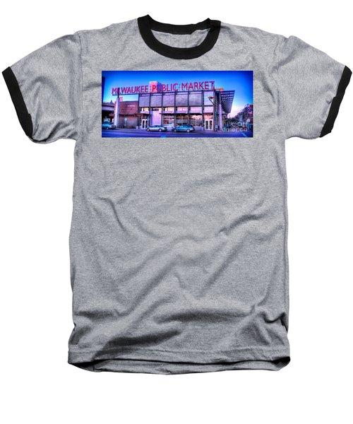 Evening Milwaukee Public Market Baseball T-Shirt