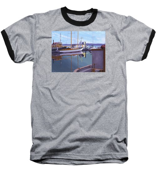 Baseball T-Shirt featuring the painting Evening On Malaspina Strait by Gary Giacomelli