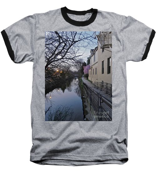 Evening On The Canal Path Baseball T-Shirt