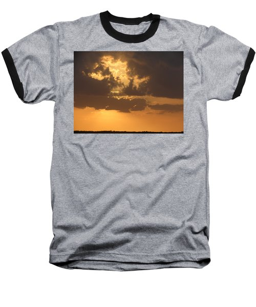 Baseball T-Shirt featuring the photograph Evening Over Lake George by Fortunate Findings Shirley Dickerson