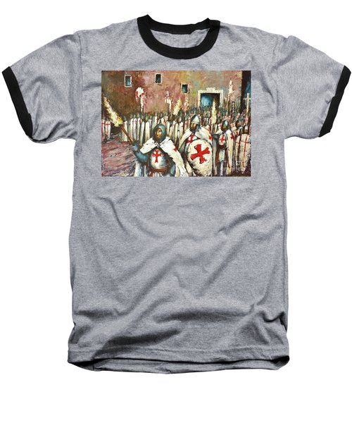 Templar Procession  Baseball T-Shirt