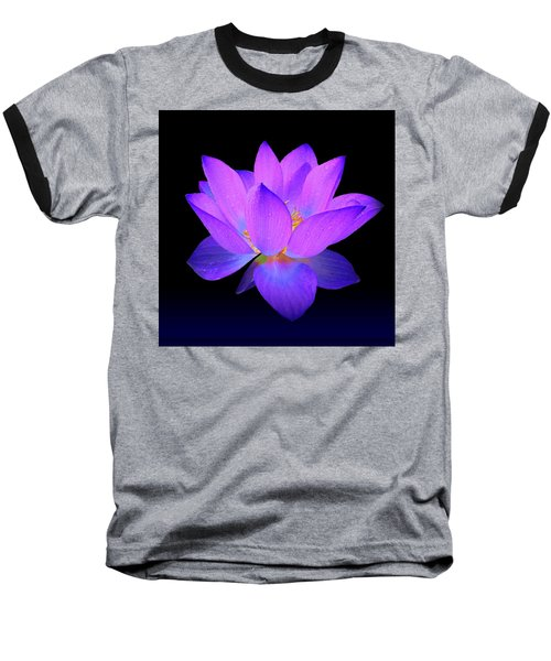 Evening Purple Lotus  Baseball T-Shirt
