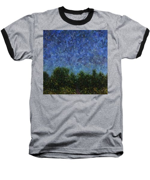Baseball T-Shirt featuring the painting Evening Star - Square by James W Johnson