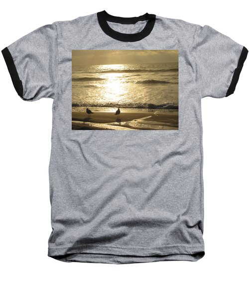 Baseball T-Shirt featuring the photograph Evening Stroll by Judith Morris