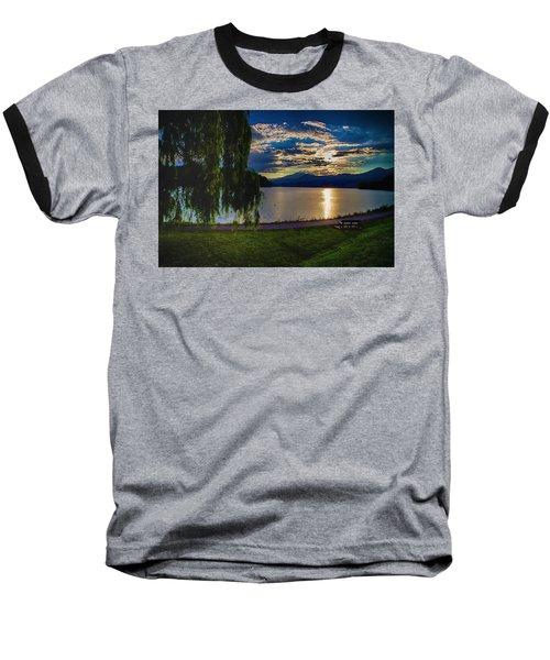 Evening Sun Kisses Lake One Last Time Baseball T-Shirt
