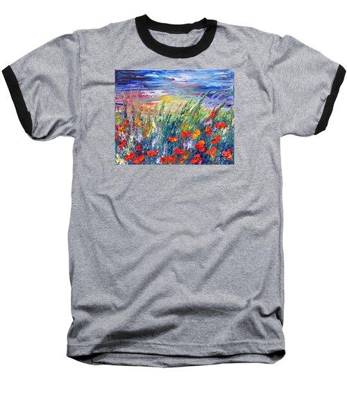 Evening Baseball T-Shirt by Teresa Wegrzyn