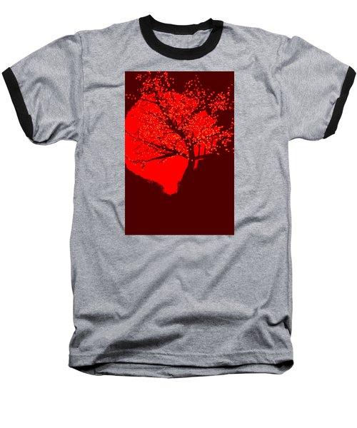Evening Tree Baseball T-Shirt