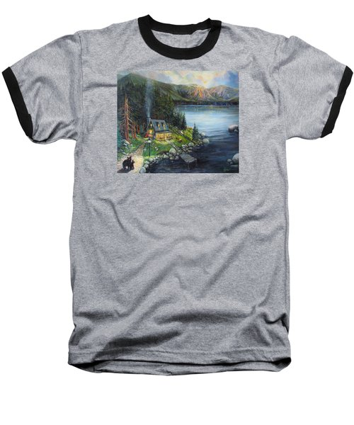 Evening Visitors Baseball T-Shirt by Donna Tucker