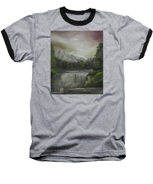 Evening Waterfalls Baseball T-Shirt