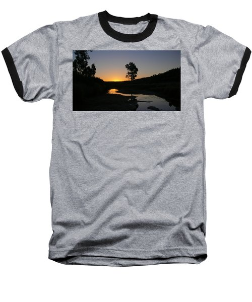 Baseball T-Shirt featuring the photograph Evening Wonderland by Evelyn Tambour