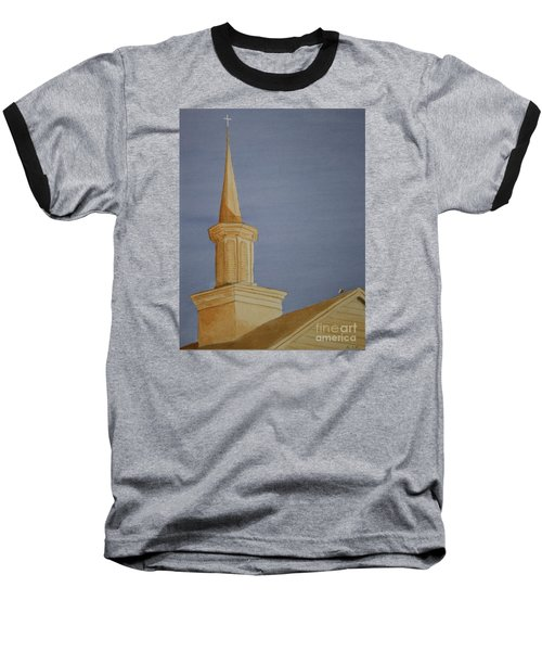 Baseball T-Shirt featuring the painting Evening Worship by Stacy C Bottoms
