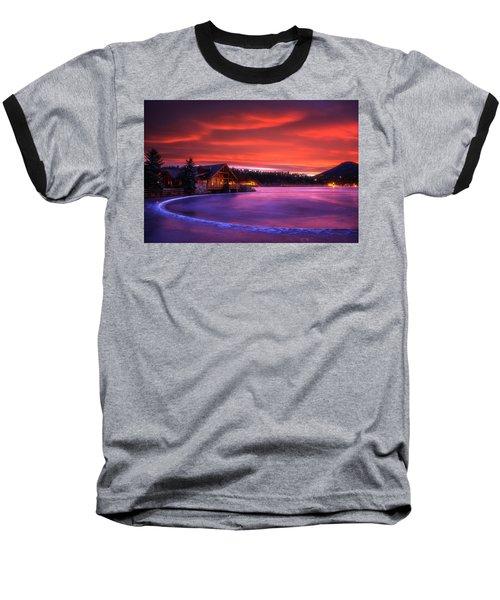 Evergreen Lake Sunrise Baseball T-Shirt