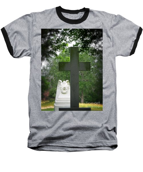 Baseball T-Shirt featuring the painting Every Knee Shall Bow by Ella Kaye Dickey