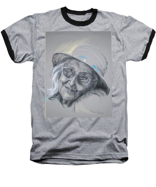Baseball T-Shirt featuring the drawing Everybodys Grandma by Peter Suhocke